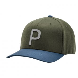 Throwback P Snapback Cap - Deep Lichen Green/ Dark Denim