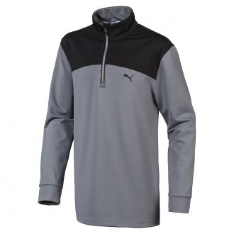 Juniors Colorblock 1/4 Zip - Quiet Shade