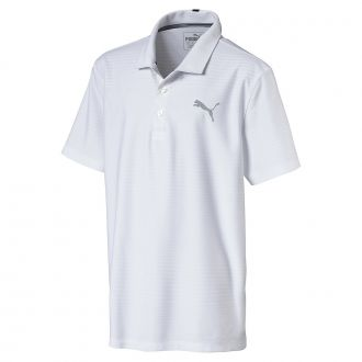 Juniors Pounce Aston Golf Polo - Bright White