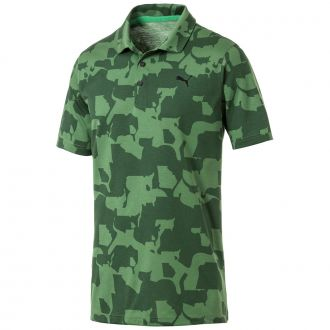 Juniors Union Camo Golf Polo - Juniper