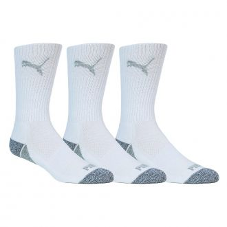 Pounce Crew Socks - White